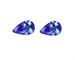 2.27 tcw IF Clarity Truly Dazzling Magnificent Natural Tanzanite Pair