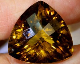37.40CTS  -CITRINE CARVING NATURAL STONE  TBM-1571