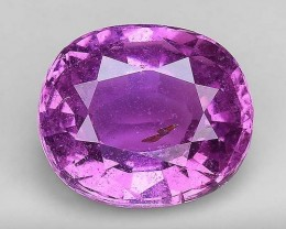 1.53 Cts Untreated Top Color Sparkling Intense Pink Sapphire ~ SF4