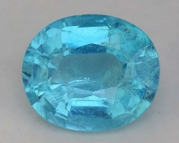 1.74 Cts Neon Blue Apatite ~ Awesome Color and Luster ~ Untreated AP8