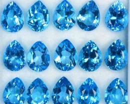 22.05 Cts Natural Swiss Blue Topaz Pear Cut Brazil