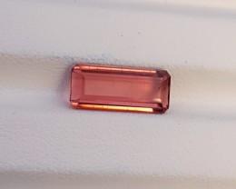 3.65 Ct Natural Rubellite Tourmaline Transparent Ring Size Gem