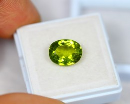 3.60Ct Natural Green Peridot Oval Cut Lot A103