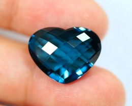 12.35cts Natural London Blue Topaz