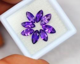 3.22Ct Purple Amethyst Marquise Cut Mix Size Lot B29