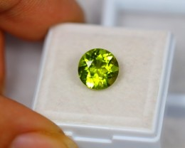 3.68Ct Green Peridot Round Cut Lot B30