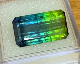 19.92 cts Blue Bicolor Tourmaline - AAA - Museum Quality Color!!
