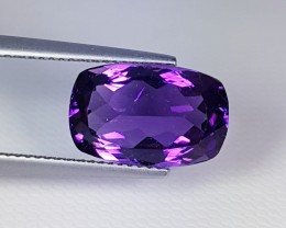 """6.01 ct """" Collective Gem """" Amazing Cushion Cut Natural Amethyst"""