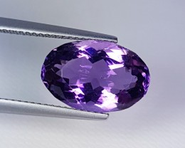 "6.43 ct "" Exclusive Gem "" Fantastic Oval Cut Natural Amethyst"