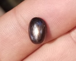 BLACK SUNSTONE CABOCHON Natural+Untreated VA811