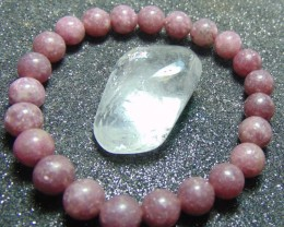 collective PIECES lepidolite beads bracelet 96.75  cts