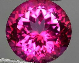 6.90 CTS SUPERIOR! TOP 11 MM ROUND CUT HOT PINK-TOPAZ GENUINE NR!!