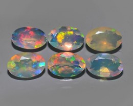 1.40 CTS MEXICAN OPAL! NATURAL OVAL CUT EXCELLENT PLAY OF COLORS ! AAA