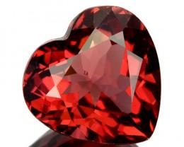 1.85 Cts Natural Pinkish Red Rhodolite Garnet Heart Cut Mozambique