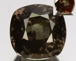 1.23 Cts Natural Color Change Garnet Cushion Cut Tanzania