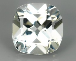 9.00 CTS DELUXE REAL WHITE TOPAZ CUSHION 12.15 MM CUT-