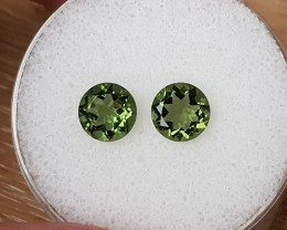 2,00ct Moldavite pair - Natural faceted Tektite!