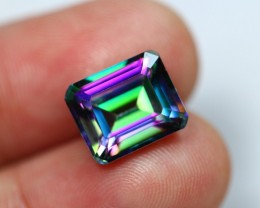 Lot 13 ~ 8.08Ct Natural Multi Color Octagon Mystic Topaz