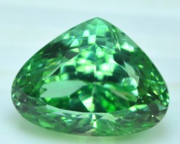 No Reserve - 17.30 cts Pear Cut Lush Green Spodumene Gemstone From Afghanis