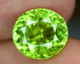No Reserve - 2.85 Oval Cut Natural Yellowish Green Color Peridot Gemstone F