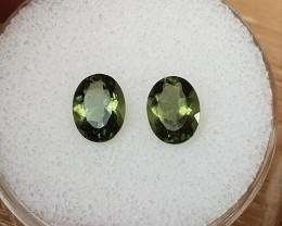 2,02ct Moldavite pair - Natural faceted Tektite!