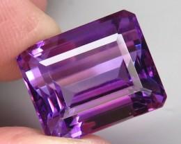 18.19 ct. Natural Top Nice Purple Amethyst Unheated Brazil - IGE Сertified