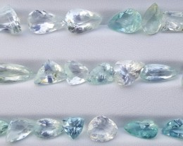 43.50 Carats Natural Aquamarine Gemstones Parcel (7)
