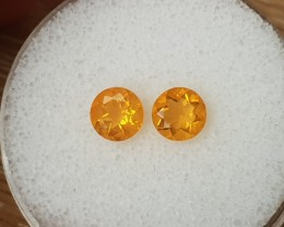 1,16ct Mexican Fire Opal pair