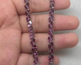 (B8)Mesmerizing Nat. 60.2tcw PinkTourmaline Bracelet