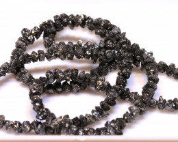 46CTS BLACK DIAMONDS GENUINE NATURAL STRAND TBG-61