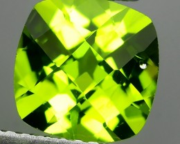 2.45 Cts.Magnificient Top Sparkling Intense Green-Cushion 8.20MM~ NR!!!