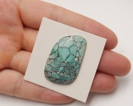 20.5ct rare gemstone turquoise cabochon bead personalized gift (A93)