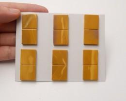 136ct New Natural mookite jasper cabochon beads square stones for designer