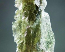Natural Raw Moldavite with Olive green color