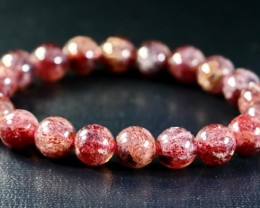 151.30 CT Natural Cherry Quartz Bracelets Carved Beads Stone Special Shape