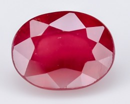 3.10 Crt Composite Ruby Faceted Gemstone (R48)