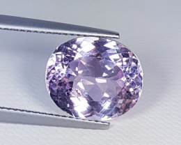 7.70 ct Untreated AAA Top Grade Oval Cut Natural Kunzite
