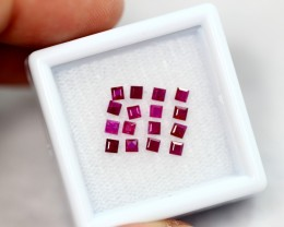 1.07cts Natural Blood Red Ruby Lot