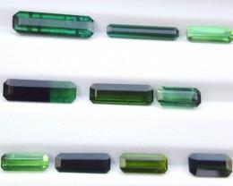 NR,  20 Carats Mixed Color Natural  Tourmaline Gemstones Parcel   (12)