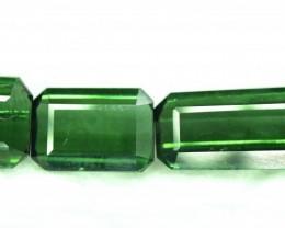 15 $ NR - 5.05 Carats 3 pcs of Green Color Natural Afghan Tourmaline Gems