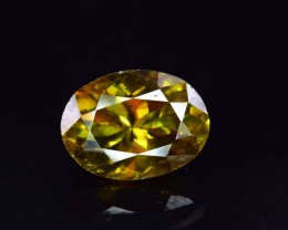 No Reserve - AAA Grade Color  2.20 Carats Full Fire Natural Sphene Titanite