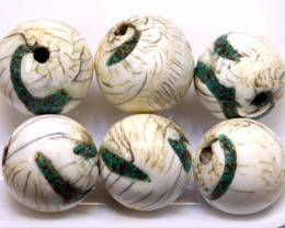 187CTS SHELL BEADS DRILLED ( 3 PAIR) ADG-425