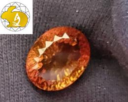 NR! Certified Master Cut 20.00 CT Vivid Orangy Brown Topaz (Ouro Preto, Bra