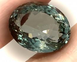 17.71ct Shimmering  Cut Green Amethyst  (Prasiolite) - NO RESERVE AUCTION