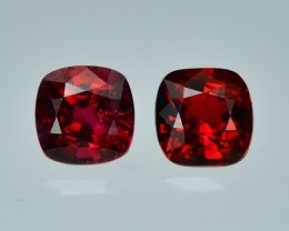 1.32 Cts Dazzling Lustrous Burmese Red Spinel Pair