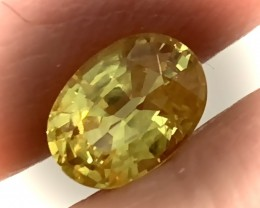 Certified Canary Yellow Natural Golden Sapphire 3.10cts VVS