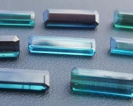 16.50 Carats  Blue Indicolite Tourmaline Gemstones Parcel (2)