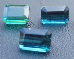 7 Carats Blue Indicolite Tourmaline Gemstones Parcel (4)