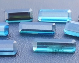 14 Carats Blue Indicolite Tourmaline Gemstones Parcel (3)