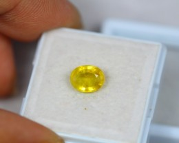 1.80Ct Yellow Sapphire Composite Oval Cut Lot B47